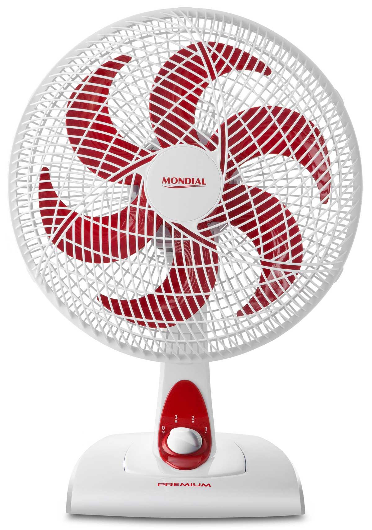 Ventilador de Mesa 30cm 3 Velocidades V-36-6P Red Premium Mondial...