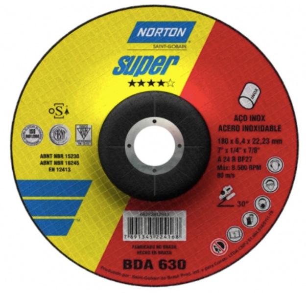 Disco de Desbaste para Inox Norton