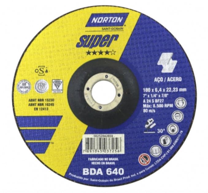 Disco de Desbaste para Metais Norton BDA 640