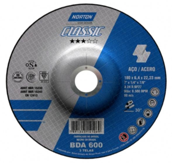 Disco de Desbaste Classic Norton BDA 600