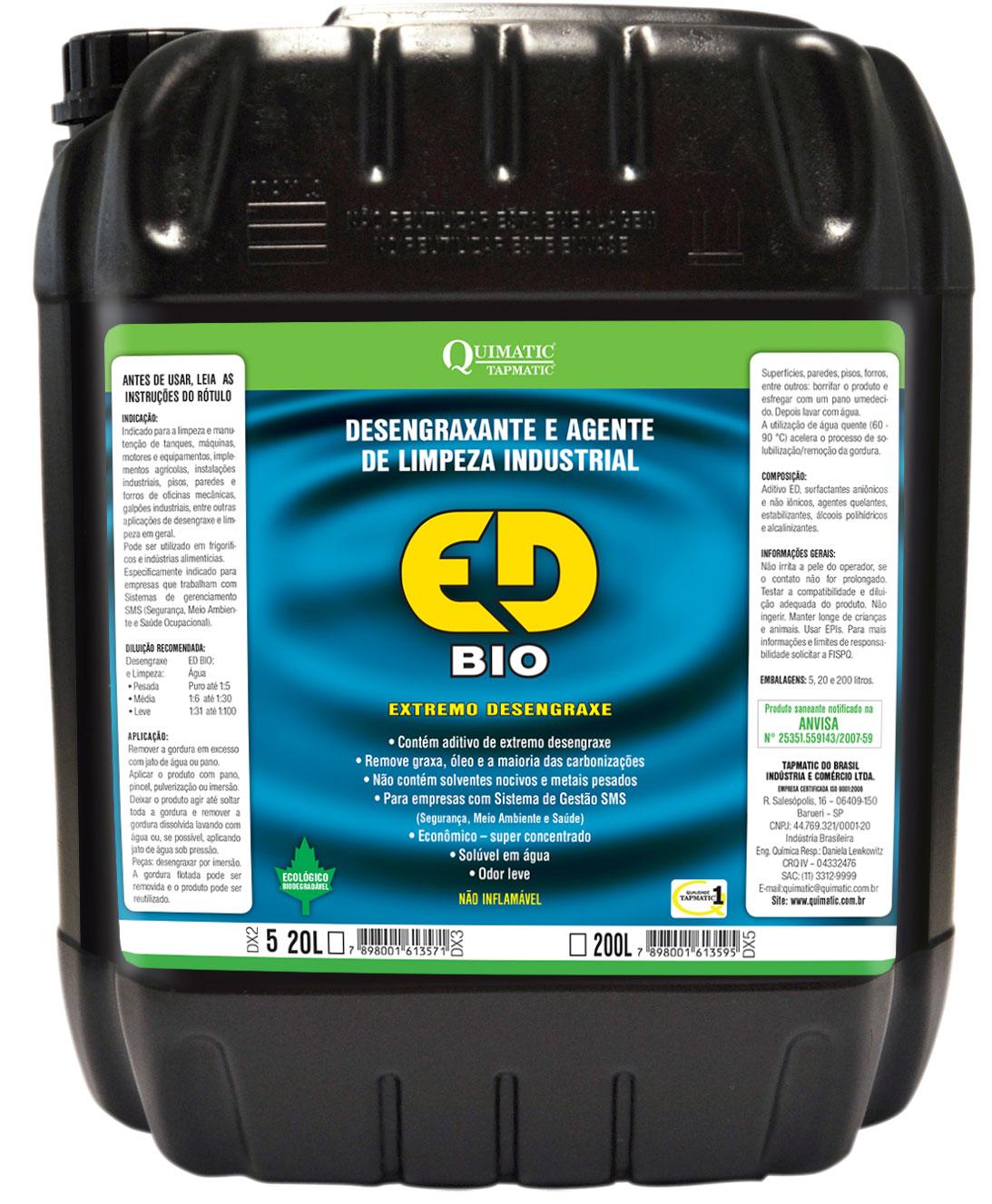Desengraxante Quimatic ED BIO 20 Litros