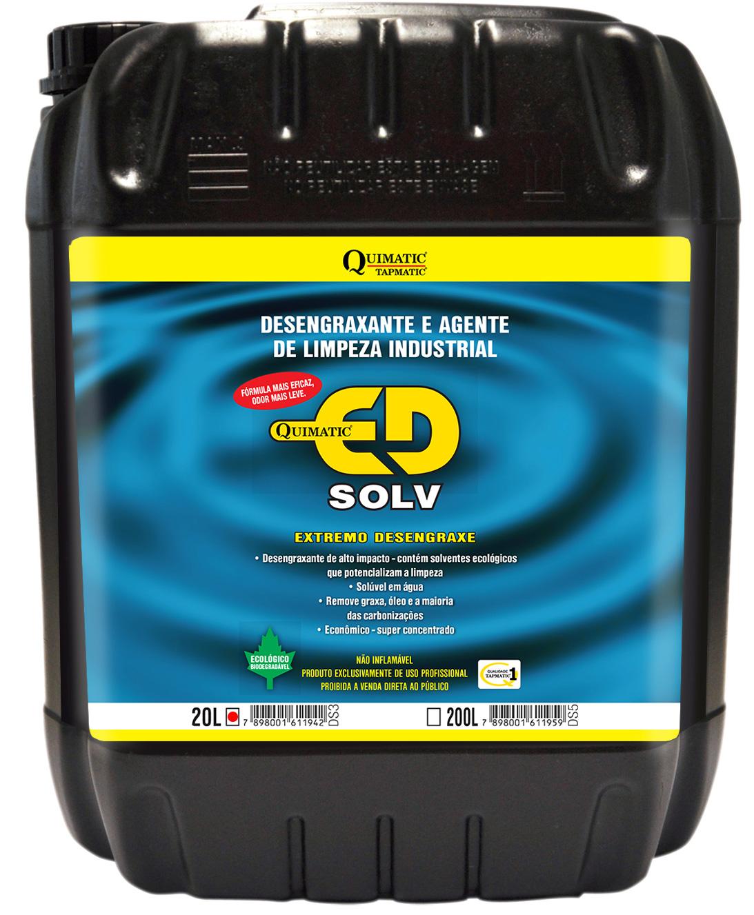 Desengraxante Quimatic ED SOLV 20 Litros