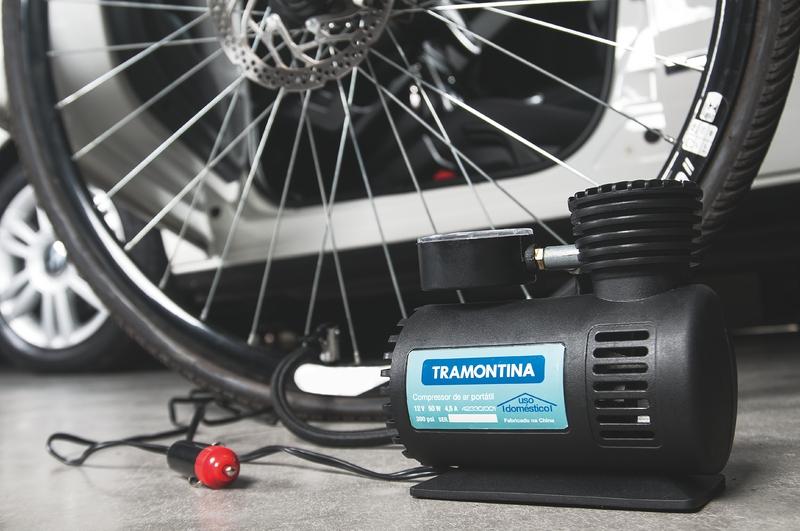 Compressor de Ar Portátil Tramontina para Carros 300 psi 50 W 12 V - 1