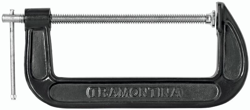Grampo Tipo C Em Ferro Fundido 3'' Pintura Eletrostática Tramontina