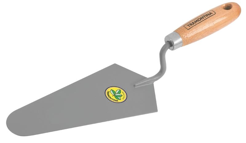 Colher De Pedreiro 8' Cabo De Madeira Com Furo Tramontina