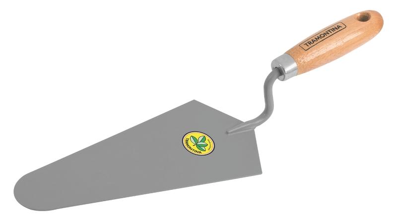 Colher De Pedreiro 9' Cabo De Madeira Com Furo Tramontina
