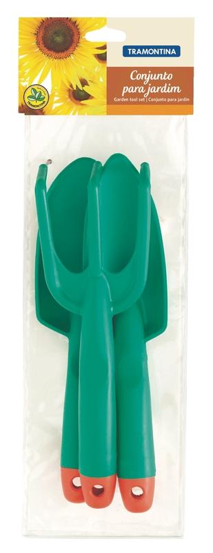 Conjunto Para Jardim 3 Peças Em Plástico Embalagem Plástica Tr...
