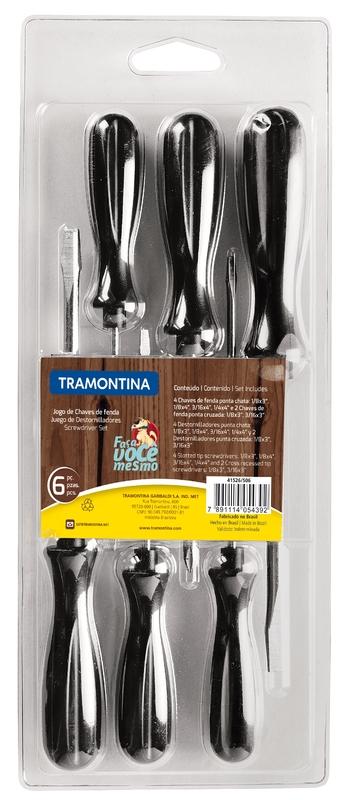 Jogo de chaves de fenda 6 peças Tramontina 41526506