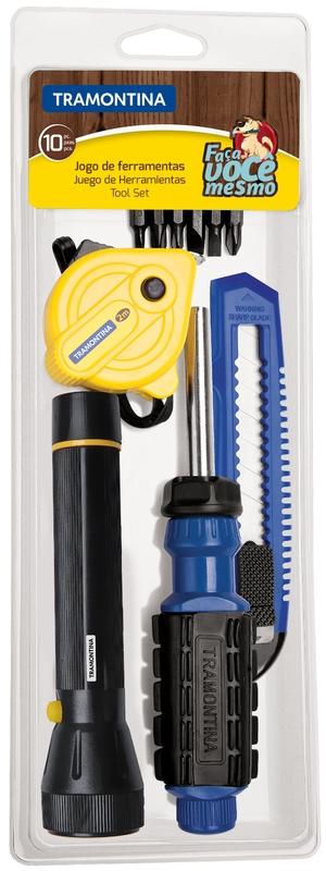 Kit de ferramentas 10 peças Tramontina 43408123