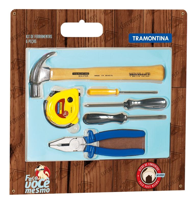 Kit de Ferramentas Tramontina Master 6 Peças 43408431