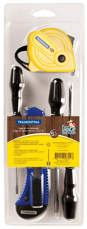 Kit de ferramentas 5 peças Tramontina 43408500