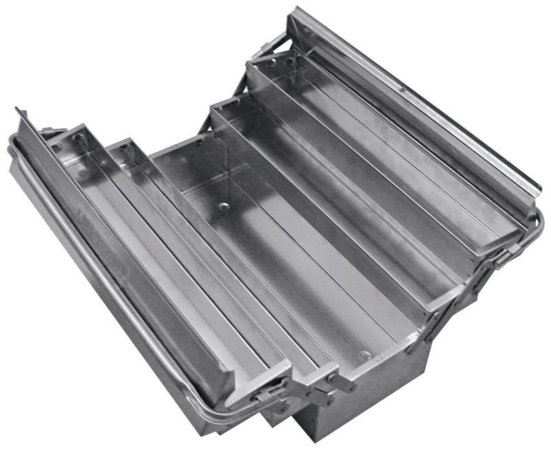 Caixa Sanfonada em Aço Inox 5 Gavetas Alças Dobráveis Tramontina