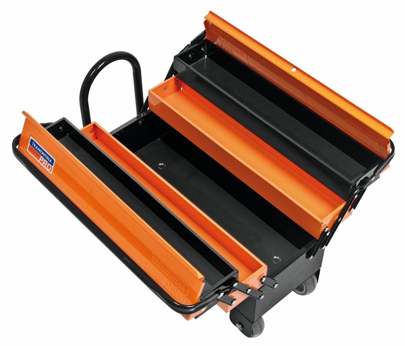 Caixa Sanfonada Cargobox com rodas e puxador 5 gavetas Tramontina