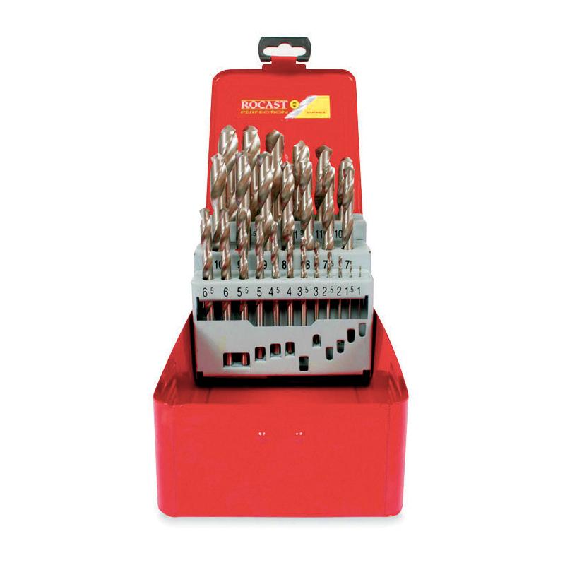 Jogo de Brocas DIN 338 com 25 Peças 1,0 MM A 13,0 MM